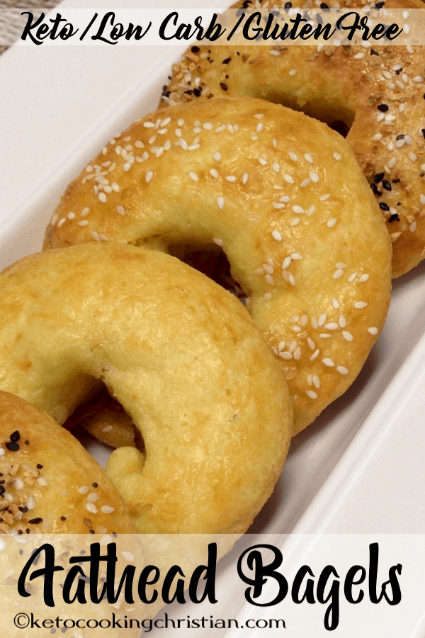 fathead dough bagels variety on a plate