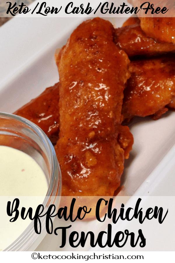 Buffalo Chicken Tenders - Keto, Low Carb & Gluten Free