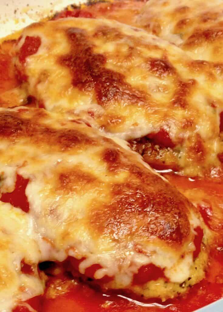 Chicken Parmesan - Keto, Low Carb & Gluten Free
