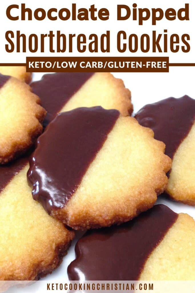 PIN chocolate dipped shortbread cookies