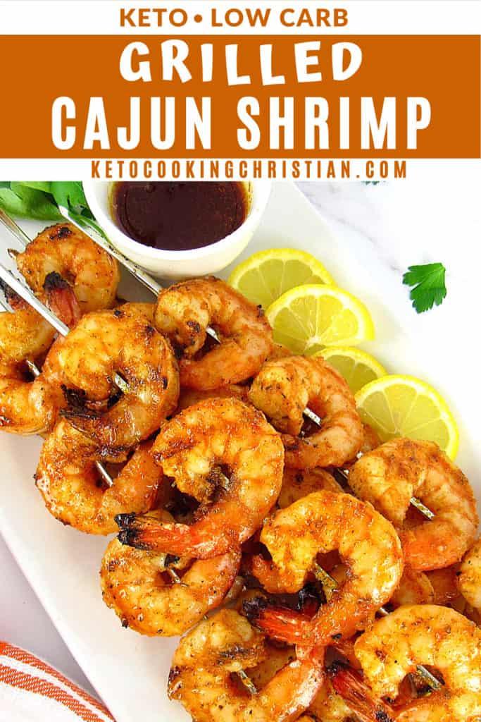 Grilled Cajun Shrimp Skewers pin
