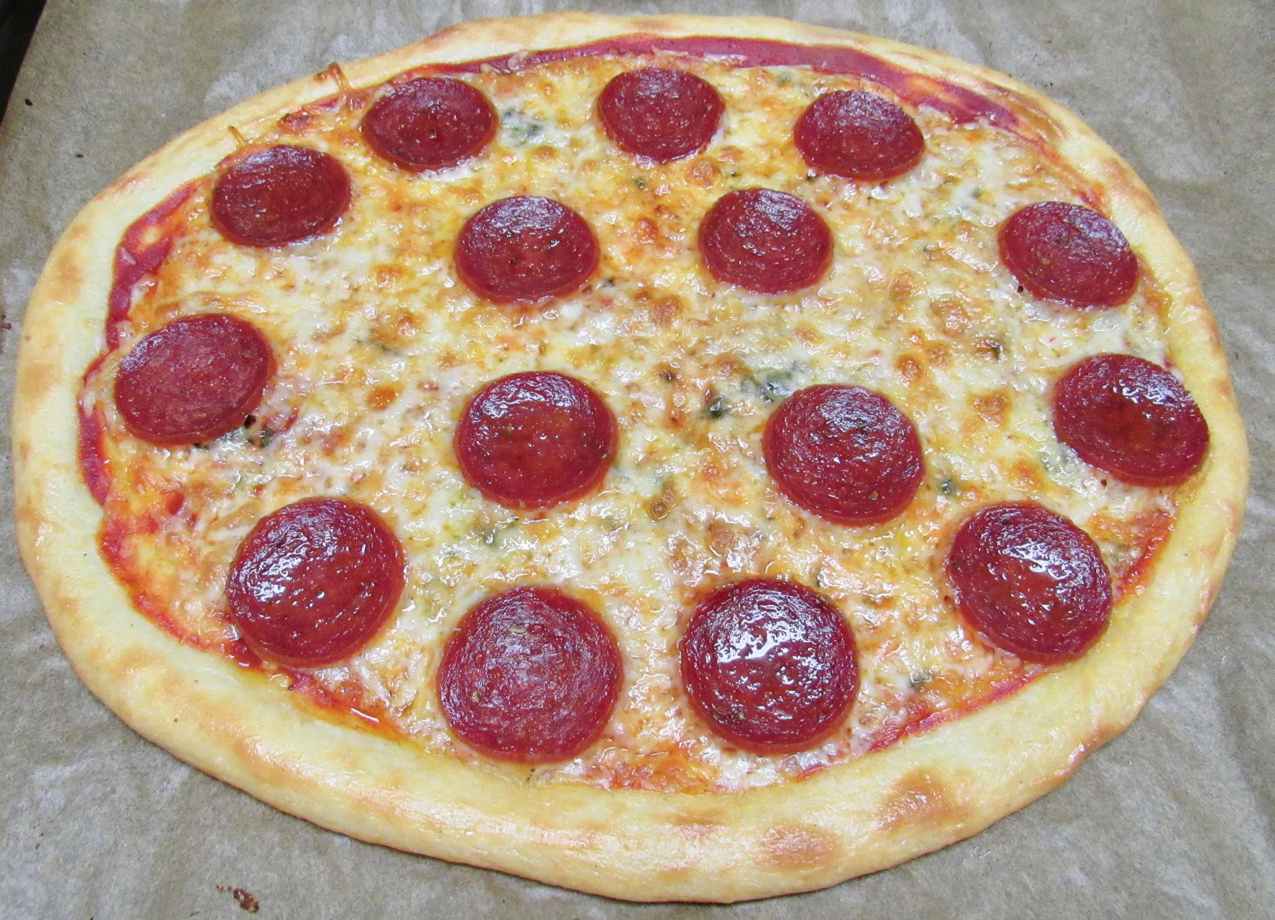 Keto Low Carb & Gluten Free Fathead Pepperoni Pizza