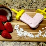 Strawberry Coconut Cream Popsicles - Keto and Low Carb