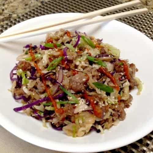 Egg Roll in a Bowl/Crack Slaw – Keto and Low Carb