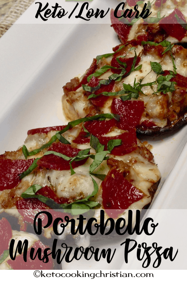 Portobello Mushroom Mini Pizza Keto and Low Carb