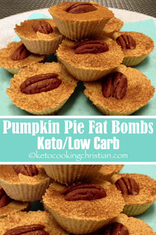 Pumpkin Pie Fat Bombs - Keto and Low Carb