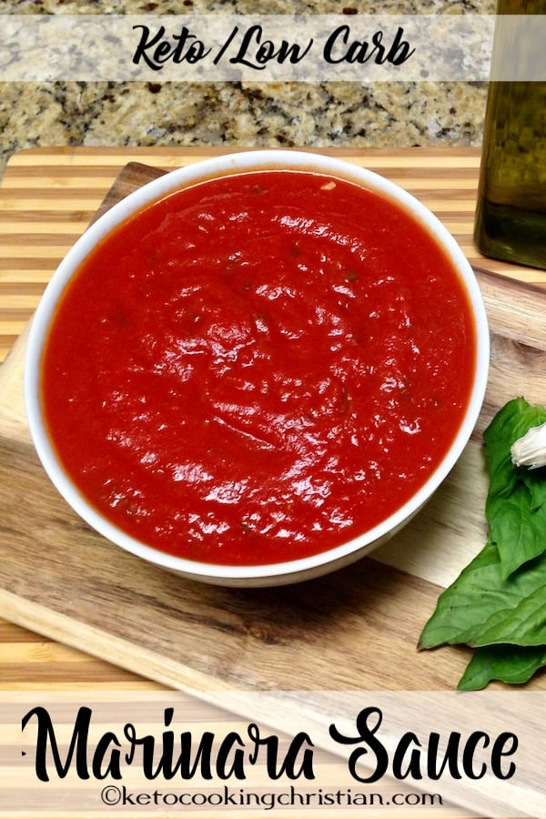 Quick Homemade Marinara Sauce - Keto and Low Carb