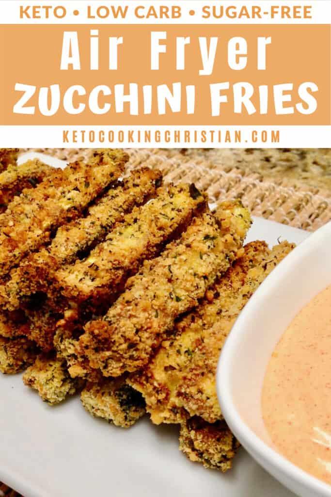PIN Keto Air Fryer Zucchini Fries