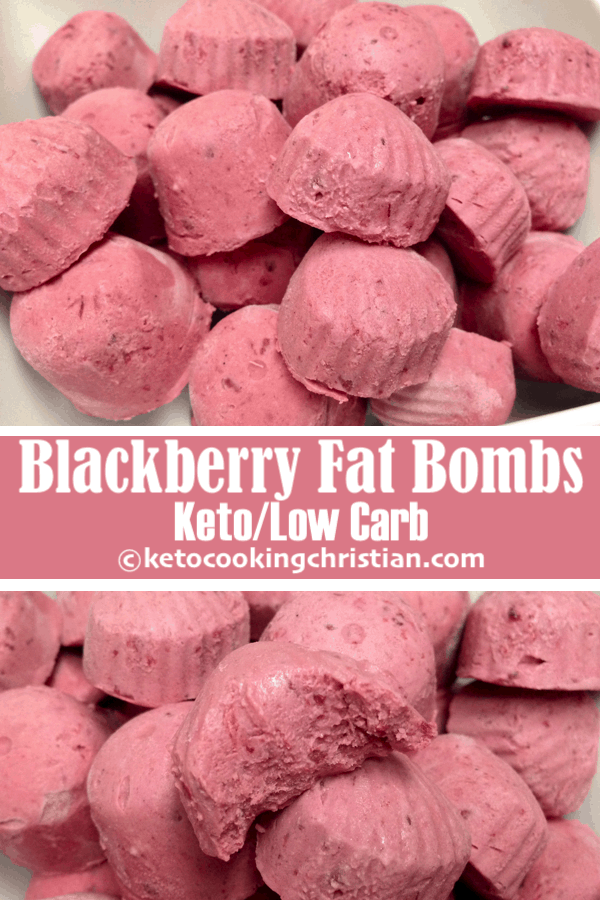 Blackberry Fat Bombs - Keto and Low Carb