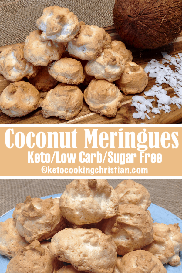 Coconut Meringue Cookies – Keto, Low Carb & Sugar Free