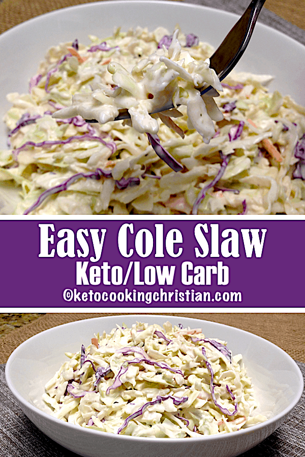 PIN Easy Cole Slaw - Keto and Low Carb