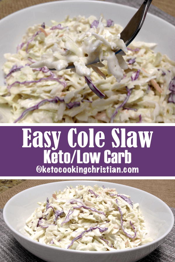 Easy Cole Slaw - Keto and Low Carb