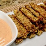 Baked Zucchini Fries with Dipping Sauce - Keto, Low Carb & Gluten Free