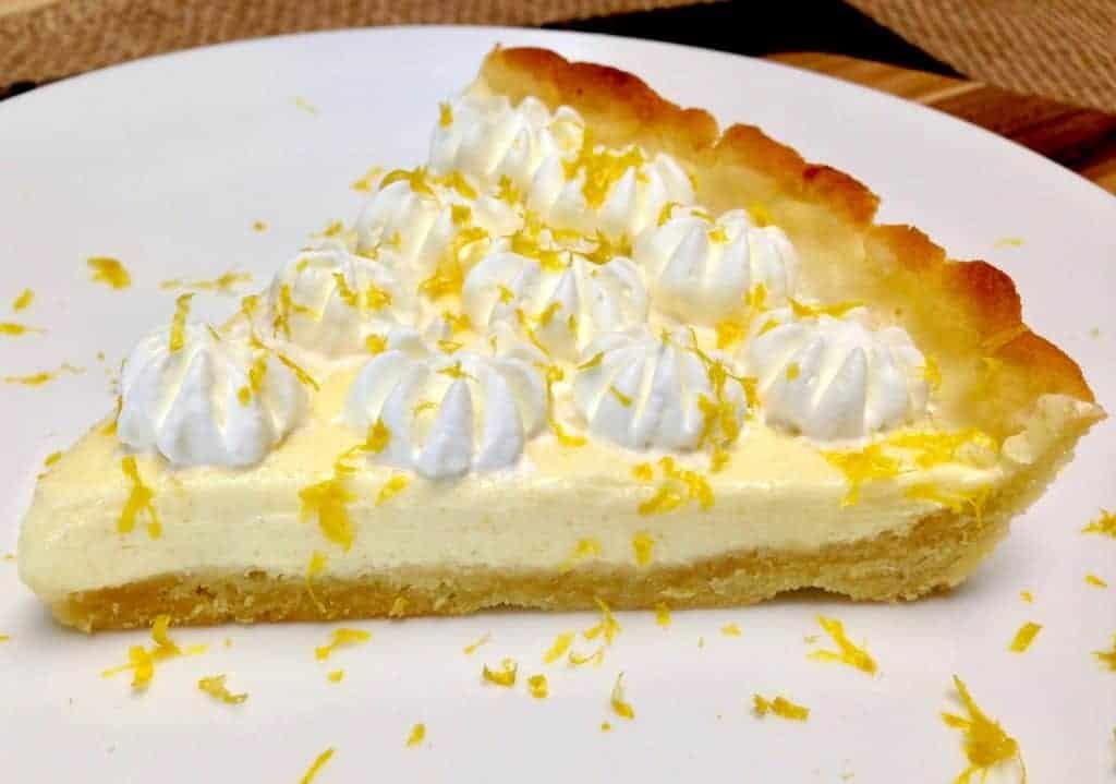 Lemon Mascarpone Tart - Keto, Low Carb, Sugar & Gluten Free