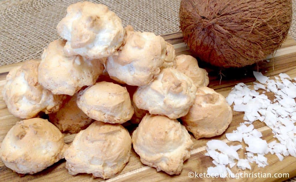Coconut Meringue Cookies - Keto, Low Carb & Sugar Free