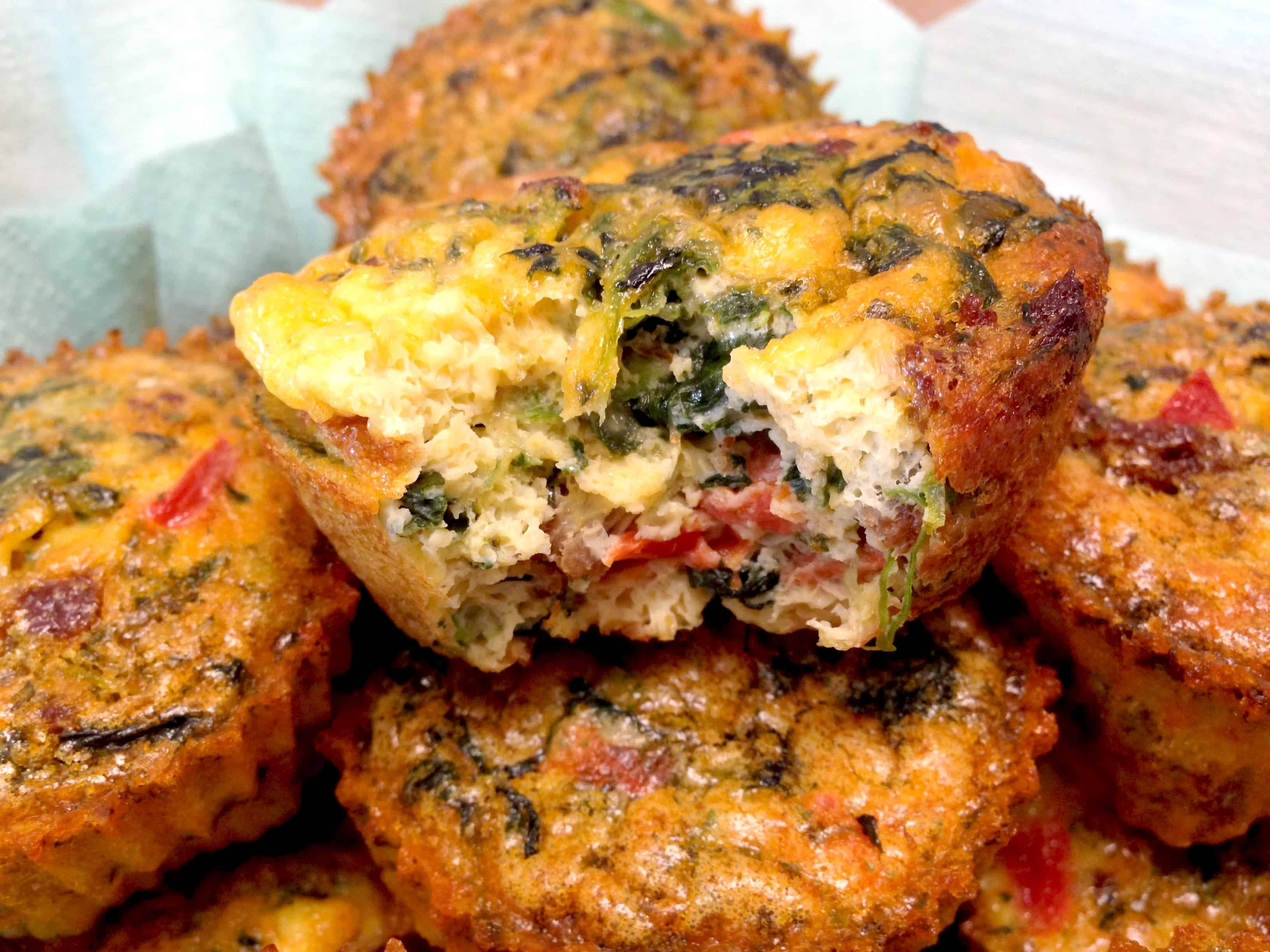 Chorizo and Pepper Egg Muffin Cups- Keto and Low Carb