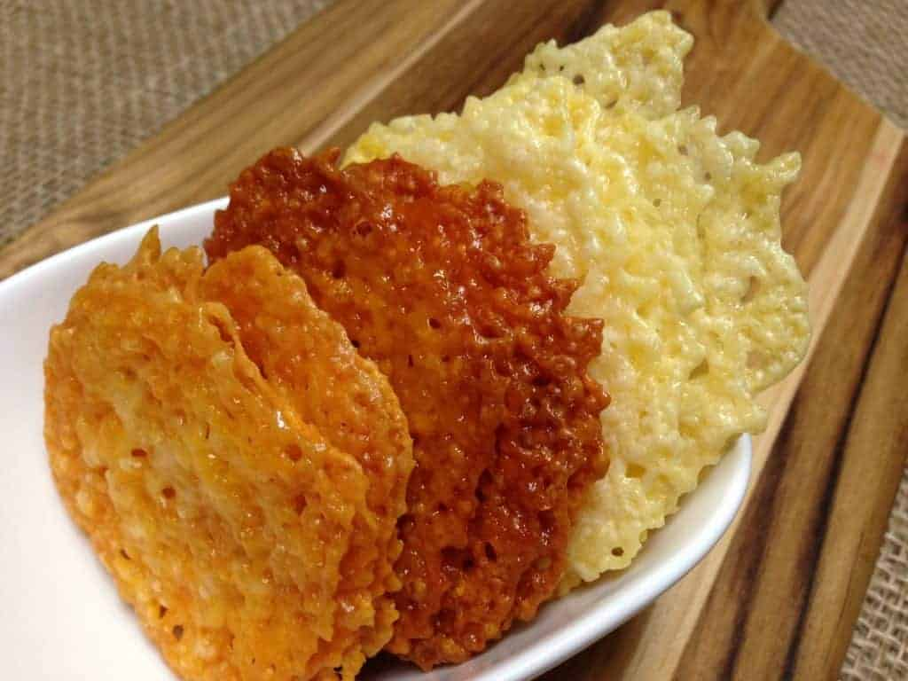 homemade cheese crisp crackers