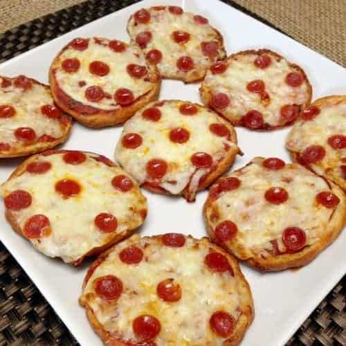 Pepperoni Pizza Bagels - Keto and Low Carb