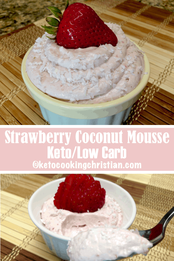 Strawberry Coconut Cream Mousse - Keto and Low Carb
