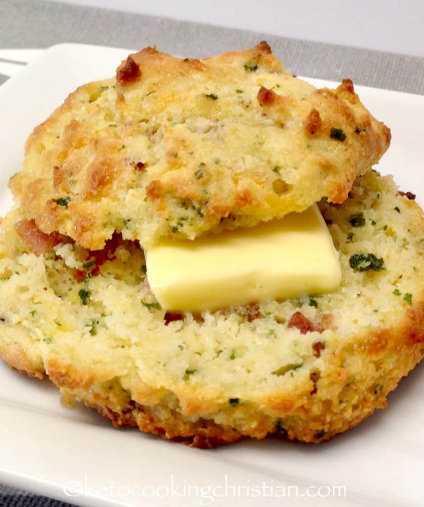 Bacon Cheddar Drop Biscuits - Keto, Low Carb & Gluten Free