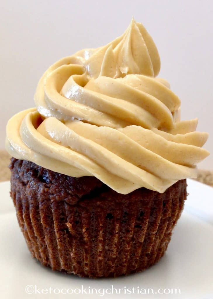 Chocolate Cupcakes with Peanut Butter Frosting- Keto, Low Carb & Gluten Free