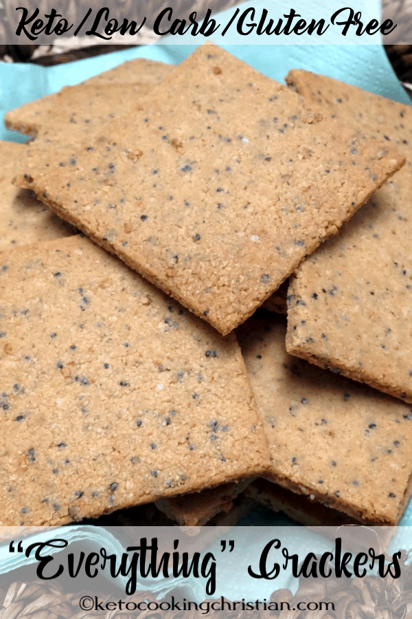 "Homemade ""Everything"" Crackers - Keto, Low Carb and Gluten Free"