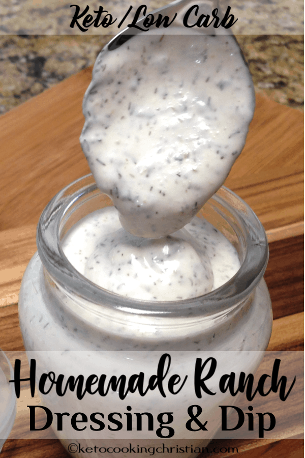 Homemade Ranch Dressing & Dip Keto and Low Carb