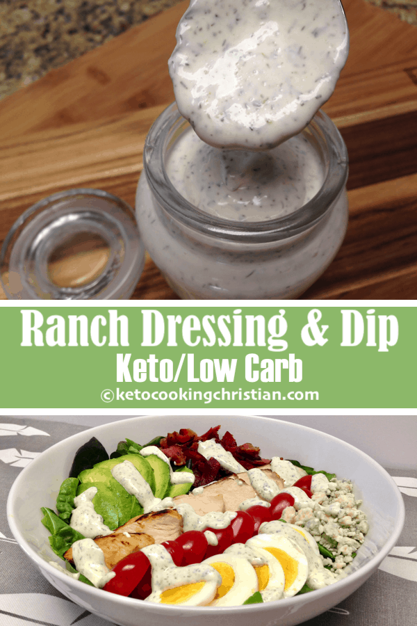 Homemade Ranch Dressing & Dip - Keto and Low Carb