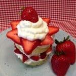 strawberry shortcake mug cake