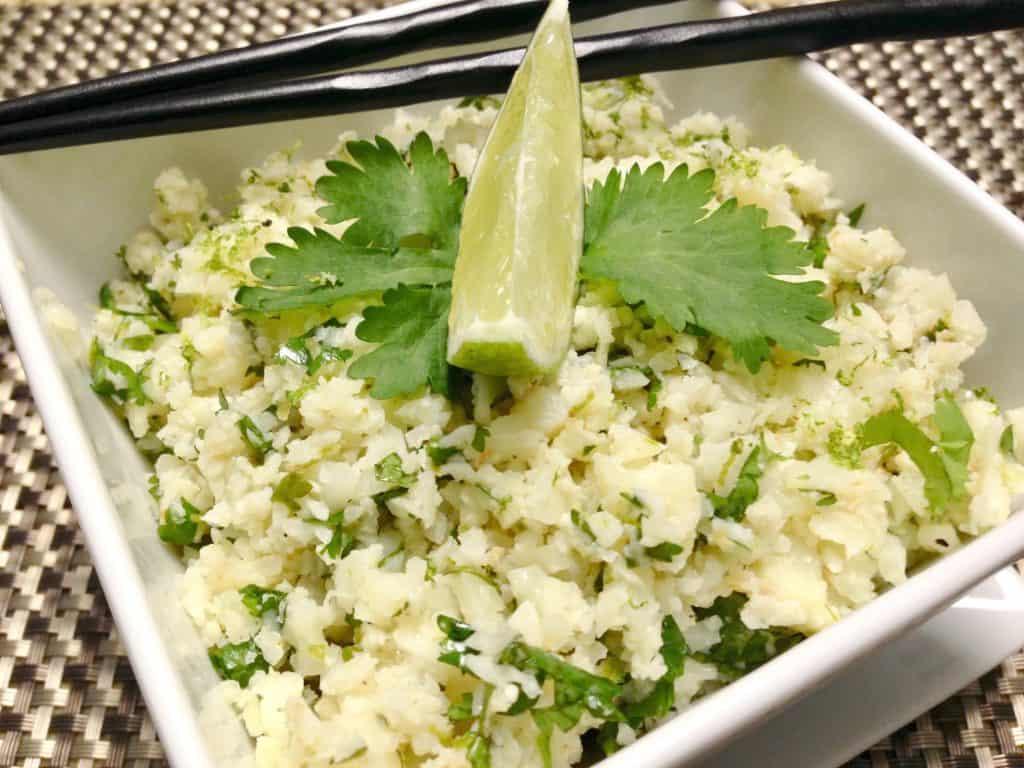 Lime Cilantro Cauliflower Rice - Keto and Low Carb
