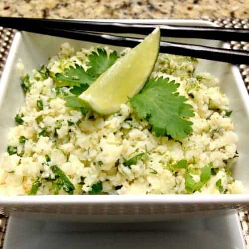 Lime Cilantro Cauliflower Rice - Keto and Low Carb