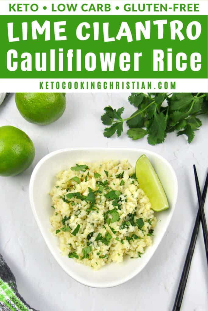 PIN Keto Lime Cilantro Cauliflower Rice