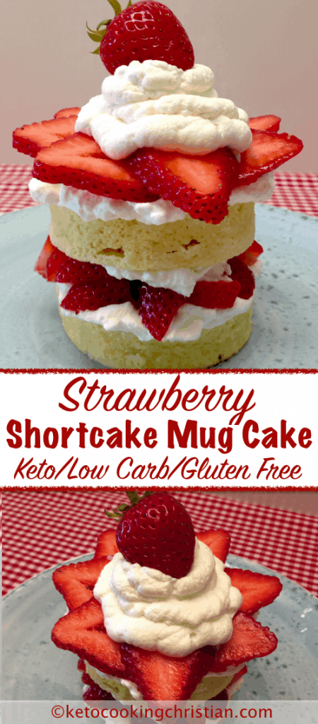Strawberry Shortcake Mug Cake - Keto, Low Carb & Gluten Free