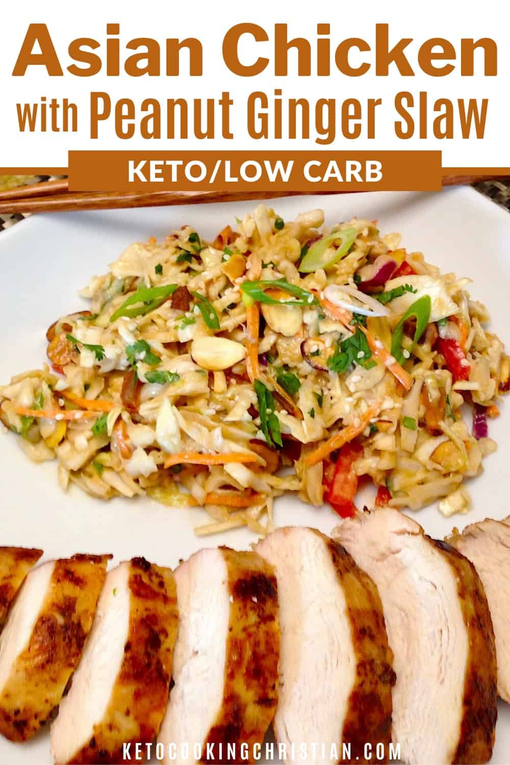 PIN asian chicken with peanut ginger slaw