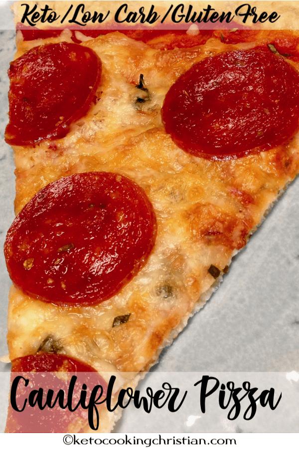 Cauliflower Pizza Crust - Keto, Low Carb & Gluten Free