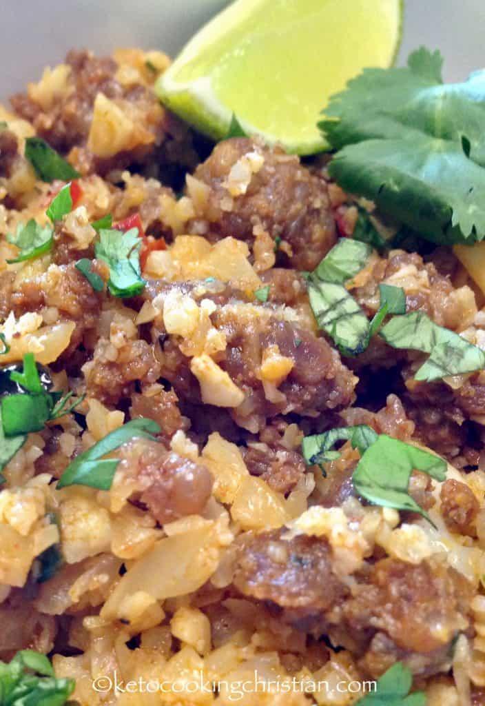 Chorizo & Pepper Cauliflower Rice - Keto and Low Carb
