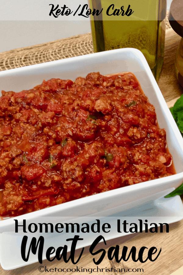 Homemade Italian Meat Sauce - Keto and Low Carb - Keto