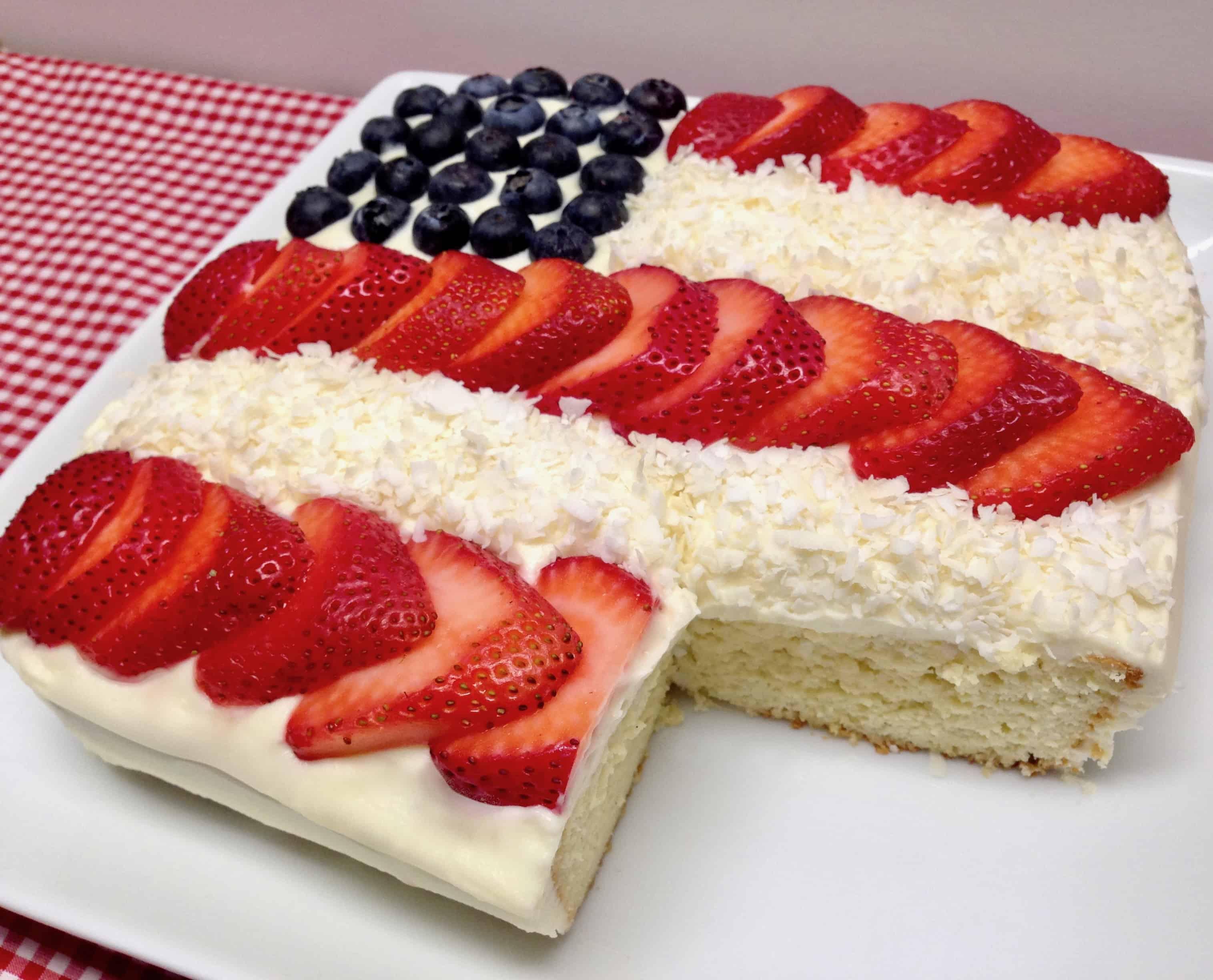American Flag Cake - Keto, Low Carb & Gluten Free