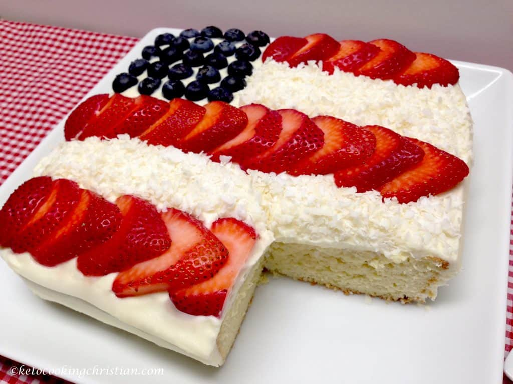flag cake keto and low carb