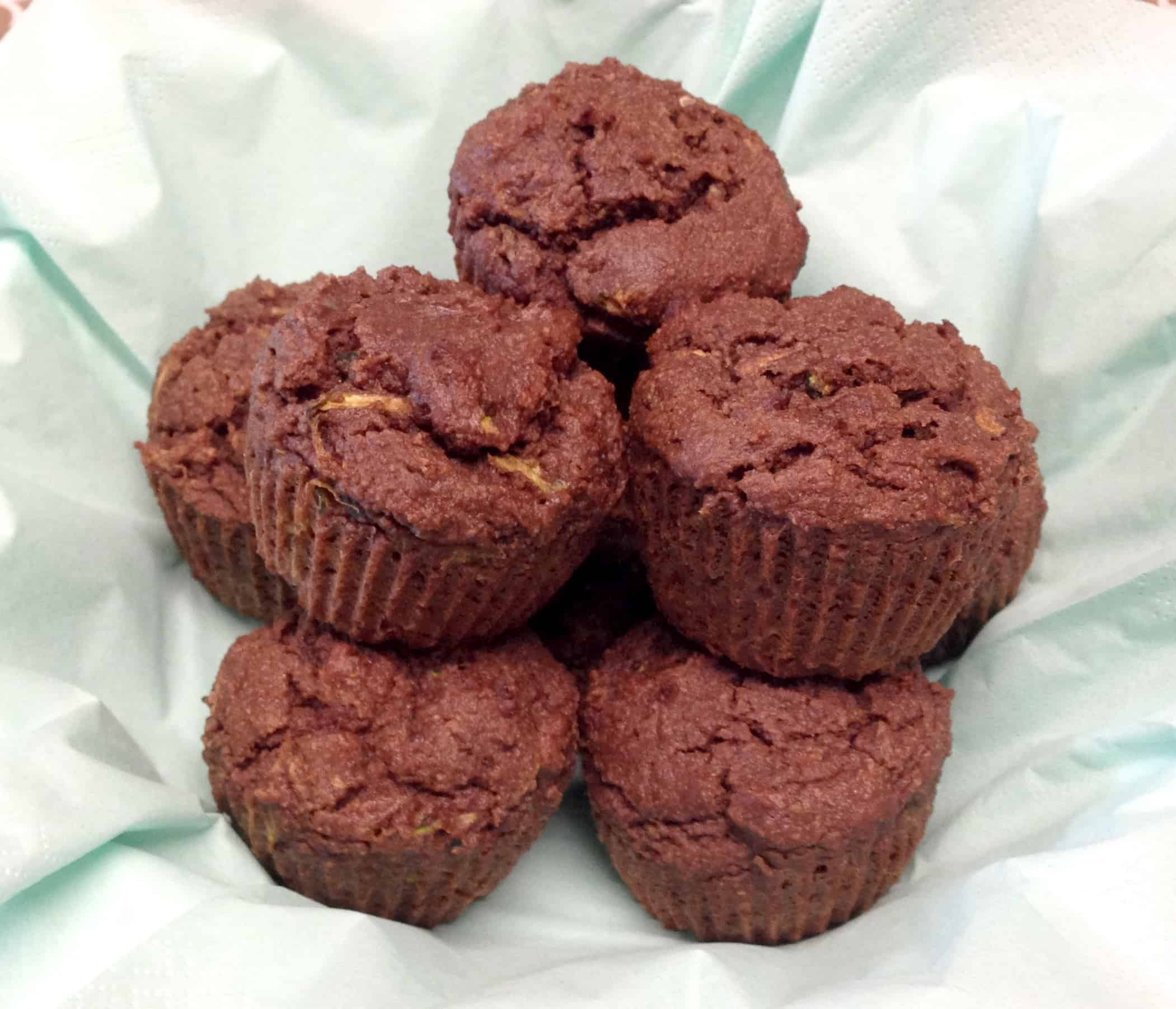 Chocolate Zucchini Muffins - Keto, Low Carb and Gluten Free