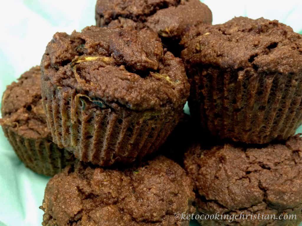 chocolate zucchini muffins keto low carb gluten free