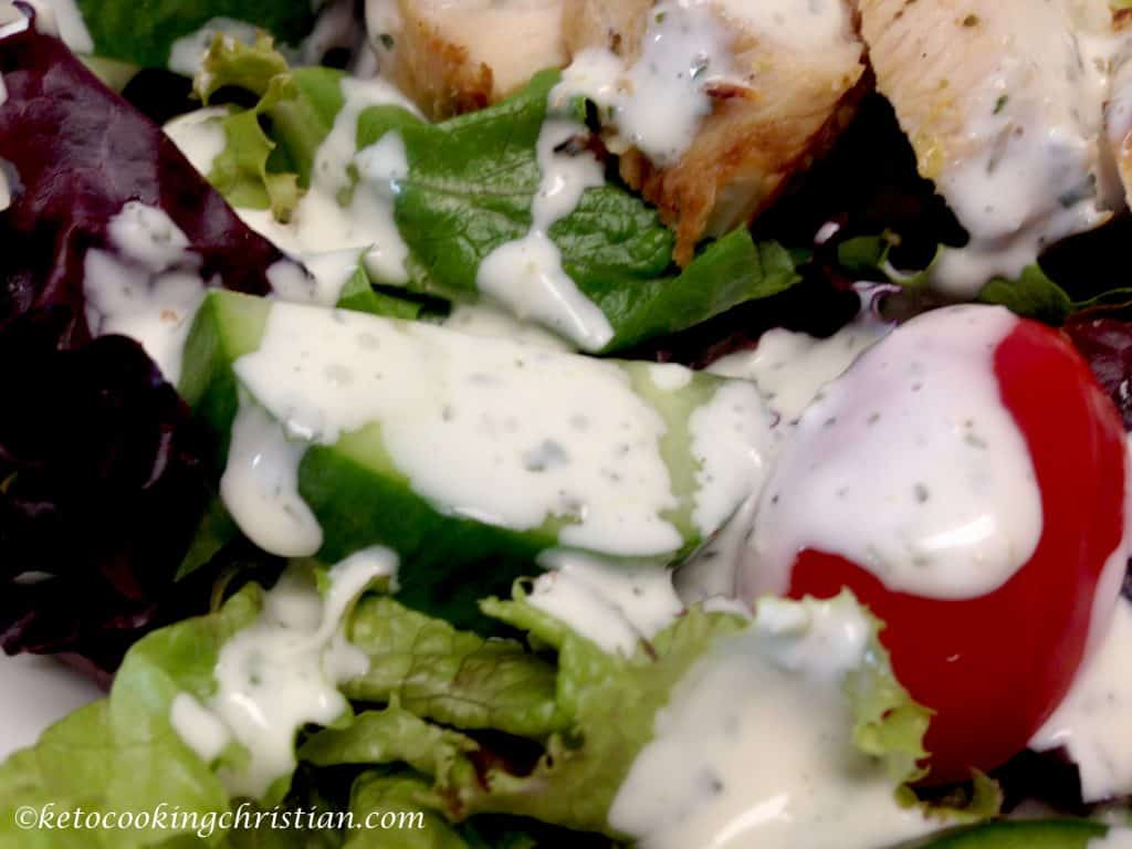 creamy garlic Italian dressing keto and low carb