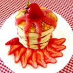 pancakes with strawberry sauce keto low carb gluten free