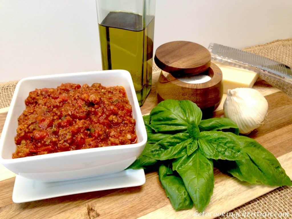 homemade Italian meat sauce keto low carb