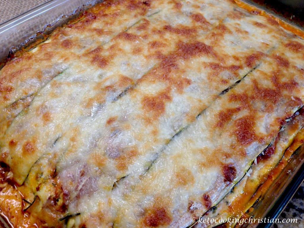 zucchini lasagna low carb keto gluten free