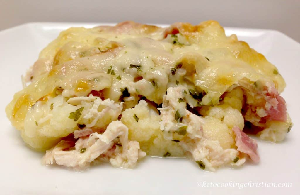 chicken cordon bleu cauliflower casserole