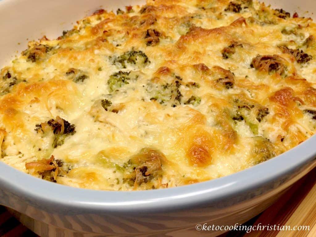 chicken broccoli alfredo casserole keto low carb