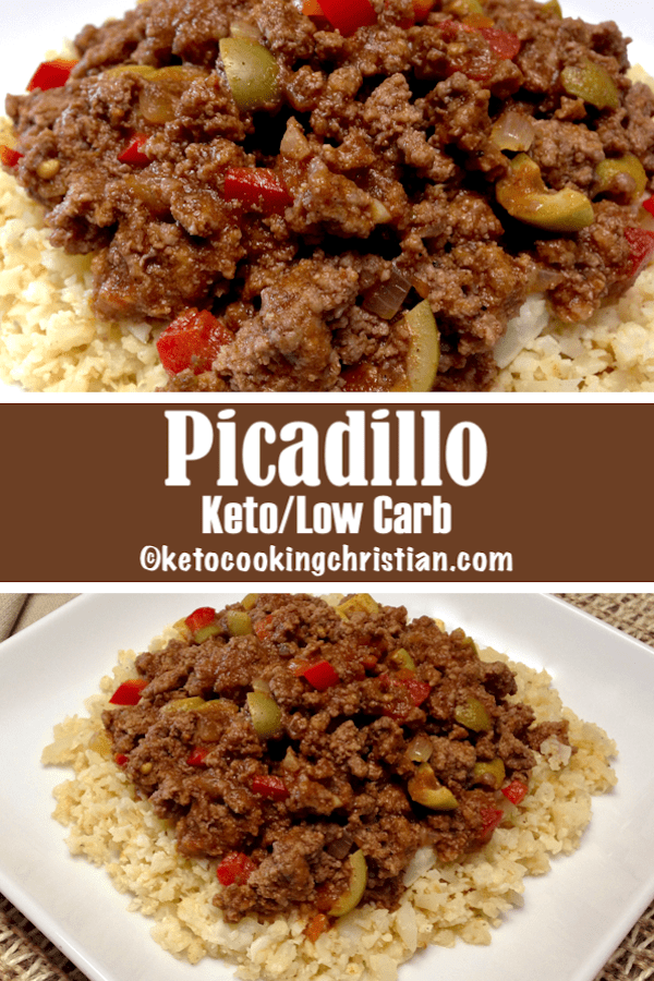 Picadillo over Cauliflower Rice - Keto and Low Carb