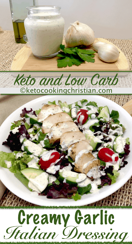 Creamy Garlic Italian Dressing & Dip - Keto and Low Carb