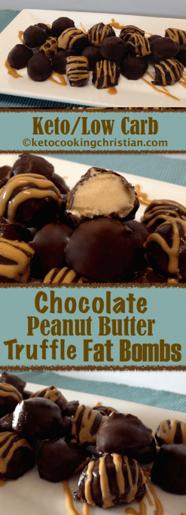 Chocolate Peanut Butter Fat Bombs - Keto and Low Carb